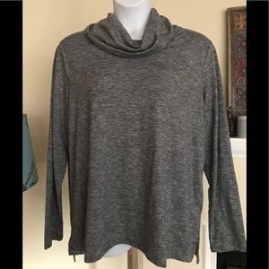 Old Navy Cowl Neck Tunic Top Gray XXL New NWT